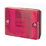 Red Square LED Marker/Clearance Light