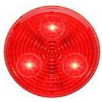 "Red 2"" Round Sealed LED Marker/Clearance Light"