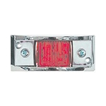 Red Chrome Plated LED Marker/Clearance Light