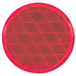 "Red 3 3/16"" Round Reflectors"