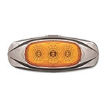 Amber Miro-Flex Mini Star Sealed LED Marker/Clearance Light