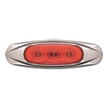 Red Miro-Flex Mini Star Sealed LED Marker/Clearance Light