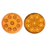 "Amber 2"" Miro-Flex Round Sealed LED Marker/Clearance Light"