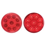 "Red 2"" Miro-Flex Round Sealed LED Marker/Clearance Light"