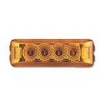 Amber Crystal Clear Miro-Flex™ Thin Line Sealed LED Marker/Clearance Light