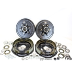 "6-5.5"" Bolt Circle 5,200 lbs. Trailer Axle Self-Adjusting Electric Brake Kit"