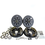 "8-6.5"" Bolt Circle 7,000 lbs. Trailer Axle Hydraulic Brake Kit"