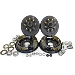 "8-6.5"" Bolt Circle 9/16"" Stud 4.75"" Center Bore 7k Trailer Axle Hydraulic Brake Kit for 17.5"" Wheels"
