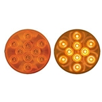 "4"" Round Sealed Yellow LED Parking/Turn Signal  (10 diodes)"