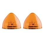"Amber 2"" Beehive Sealed LED Marker/Clearance Light Pair"
