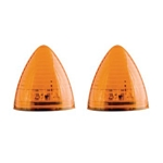 "Amber 2.5"" Beehive Sealed LED Marker/Clearance Light Pair"