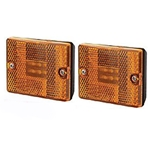 Amber Square LED Marker/Clearance Light Pair