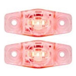 Clear Lens Red Mini Sealed LED Horizontal-Vertical  Marker/Clearance Light Pair