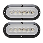 "GloLight® 6"" Oval Sealed LED Utility Light for Surface Mount Pair"