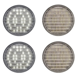 "4"" Round Sealed Clear DOT LED Back-Up Light Pair"