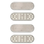 "6"" Oval Sealed Clear DOT LED Back-Up Light 27-LED Pair"