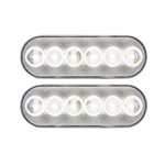 "FLEET Count™ 6"" Oval Sealed DOT LED Back-Up Light Pair"