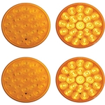 "4"" Round Sealed LED Strobe Warning Lamp Function 1 Pair"