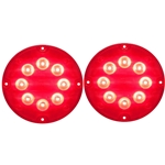 "7"" LED Warning Lights for Surface Mount Red Pair"