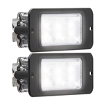 Recess Mount LED Directional Warning Light White Pair