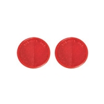 "Red 2"" Self Adhesive Round Reflector Pair"