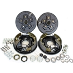 "5-4.5"" Bolt Circle 3,500 lbs. Trailer Axle Hydraulic Brake Kit With Timken Bearings"