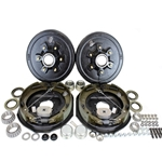"6-5.5"" Bolt Circle 5,200 lbs. Trailer Axle Self-Adjusting Electric Brake Kit With Timken Bearings"